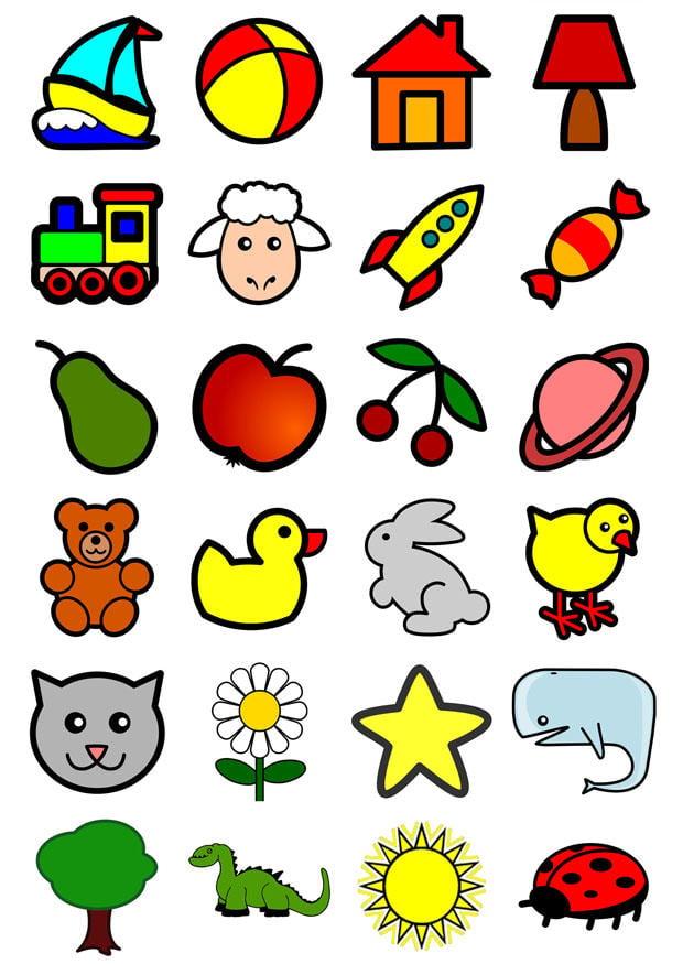 Immagine illustrazione icone per bambini piccoli for Immagini pagliaccio per bambini