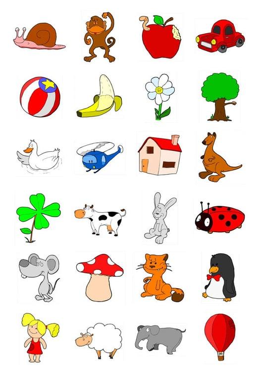 Immagine Illustrazione Icone Per Bambini Piccoli Immagini Per