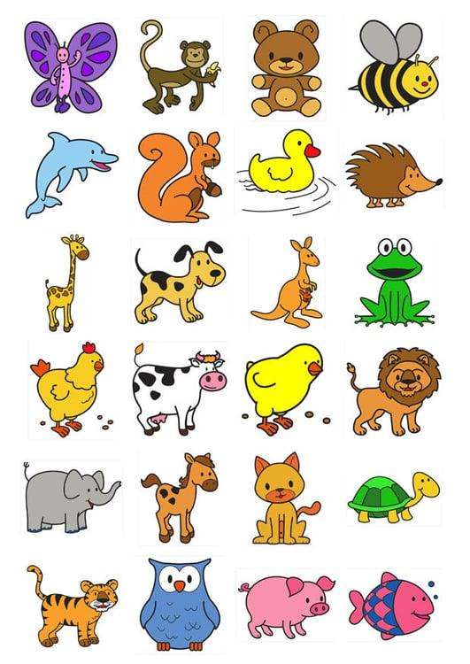 Amato Immagine – illustrazione icone per bambini piccoli | Immagini per  GV44