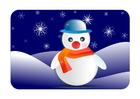 immagine immagine invernale con pupazzo di neve
