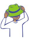 immagine indossare un cappello