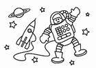 Disegno da colorare l'astronauta