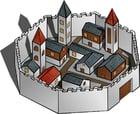 immagine le mura della città