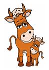 immagine mamma mucca e agnello