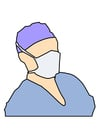 immagine maschera da chirurgo