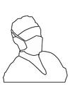 Disegno da colorare maschera da chirurgo