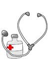 immagine medicine e stetoscopio