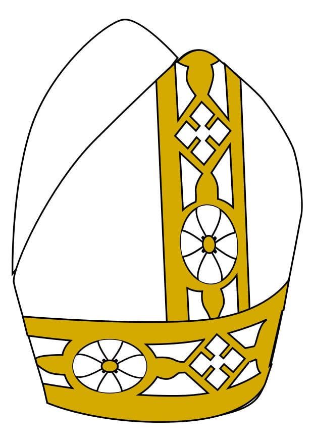 Immagine illustrazione mitra papale immagini per uso for Scarica clipart