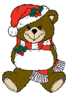 immagine orso natalizio