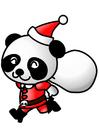 immagine panda natalizio