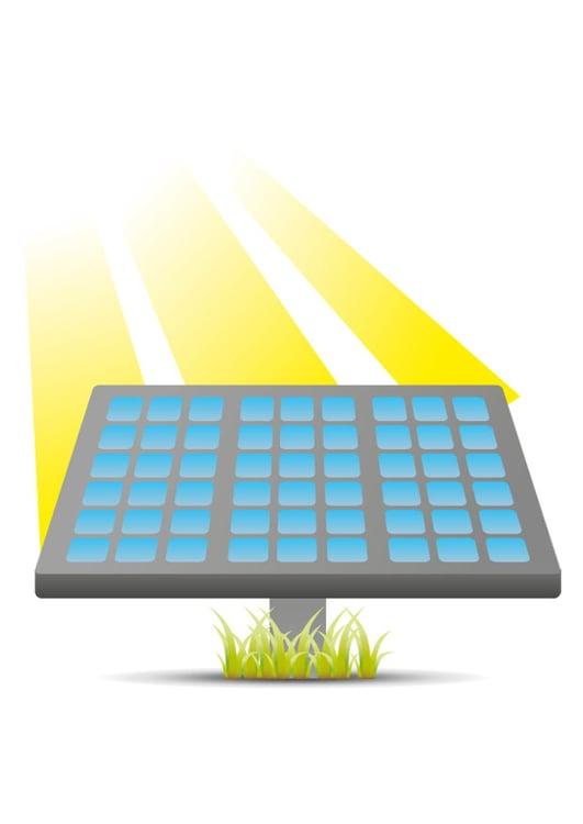 Immagine illustrazione pannello solare immagini per for Immagini pannello solare