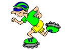 immagine pattinaggio a rotelle