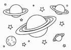Disegno da colorare pianeti