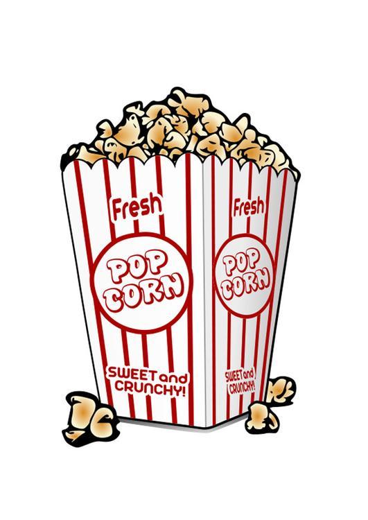 Immagine Illustrazione Popcorn Immagini Per Uso