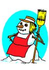 immagine pupazzo di neve