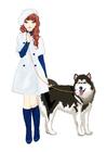 immagine ragazza con cane