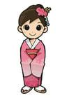 immagine ragazza in kimono