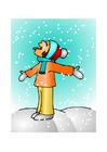 immagine ragazza nella neve