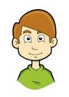 immagine ragazzo con capelli biondi