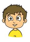immagine ragazzo con capelli castani