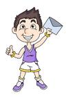 immagine ragazzo con lettera