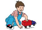 immagine ragazzo con macchina giocattolo