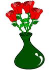 immagine rose in vaso