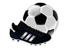 immagine scarpa e pallone da calcio