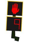 immagine semaforo pedoni - fermarsi