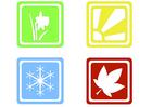 immagine simboli delle stagioni