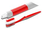 immagine spazzolino da denti e dentifricio