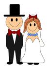immagine sposo e sposa