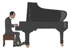 immagine suonare il piano