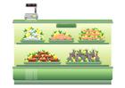 immagine supermercato - banco del pesce