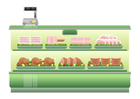 immagine supermercato - banco della carne