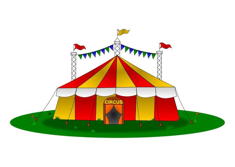 immagine tenda da circo  disegni da stampare gratis