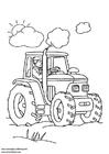 Disegno da colorare trattore