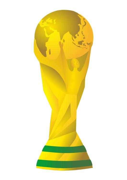 Immagine Illustrazione Trofeo Coppa Del Mondo Immagini Per Uso