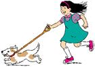 immagine uscire con il cane