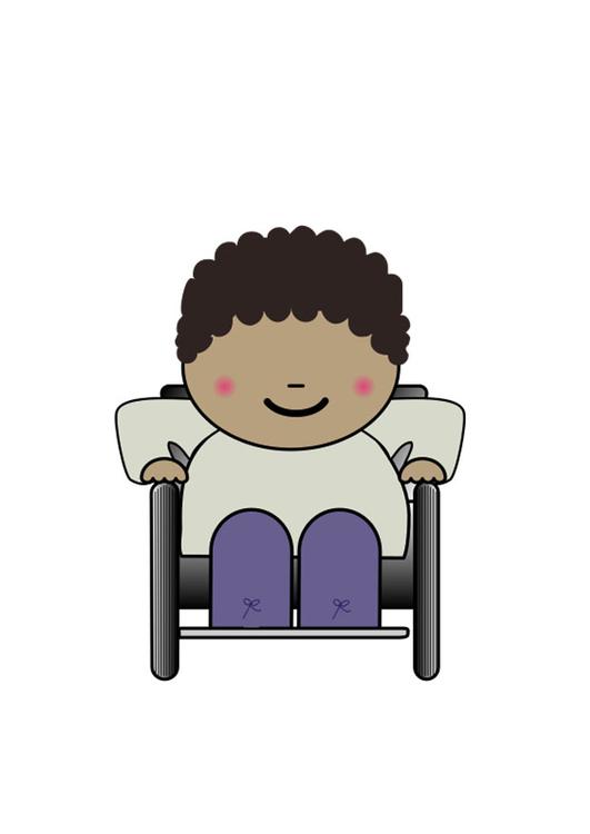 Immagine utente su sedia a rotelle - Disegni Da Stampare ...