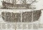 immagine veliero a tre veli - guerriero - sezionato