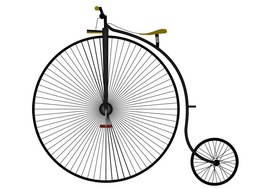 Immagine illustrazione velocipede immagini per uso for Bicicletta immagini da colorare